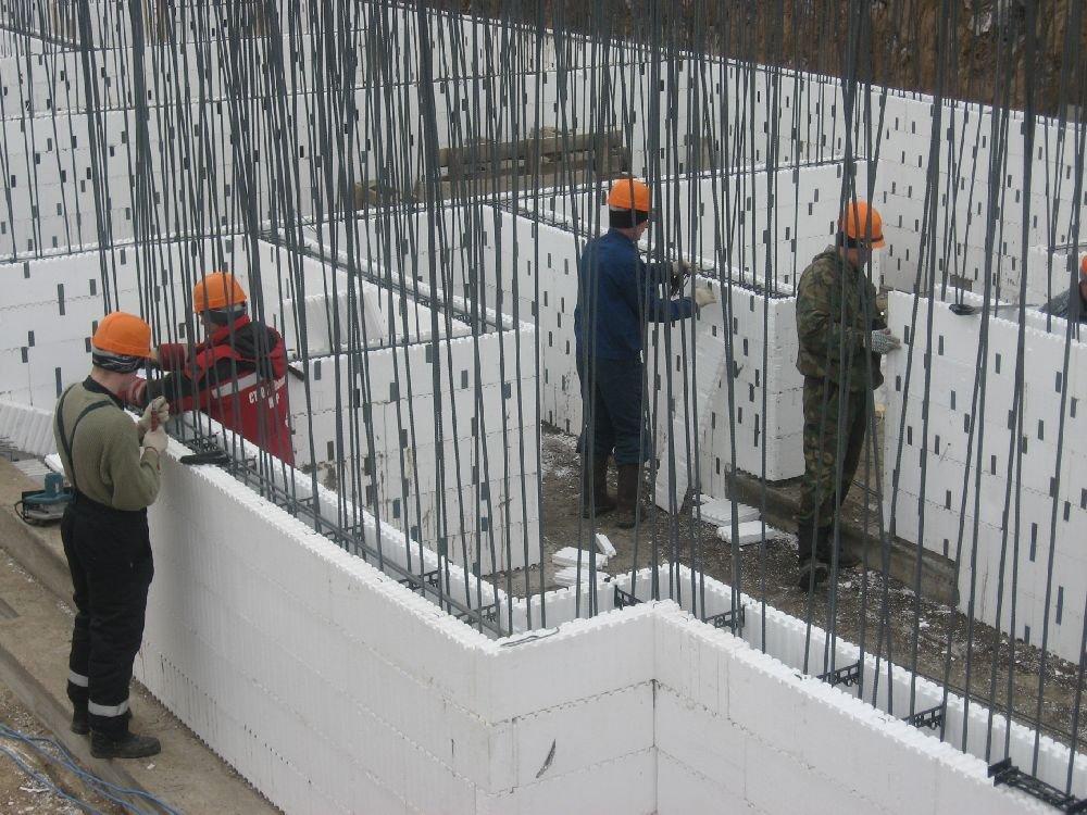 Строительство частного дома из несъемной опалубки