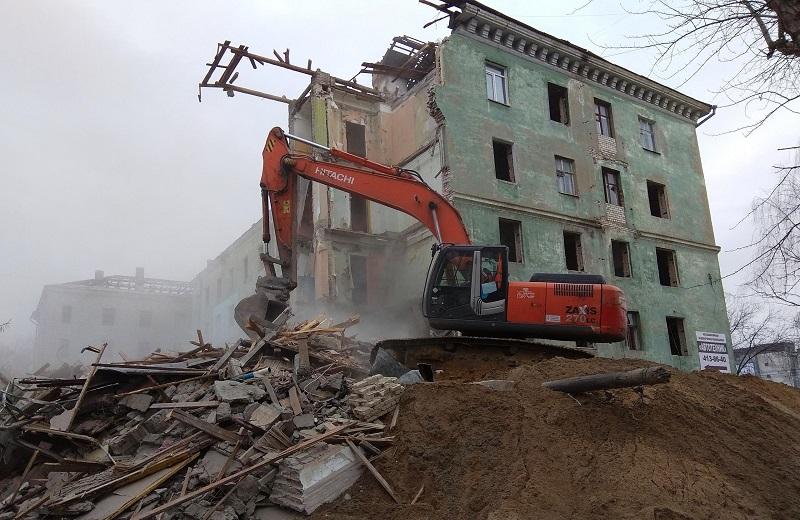 снос здания цена м3